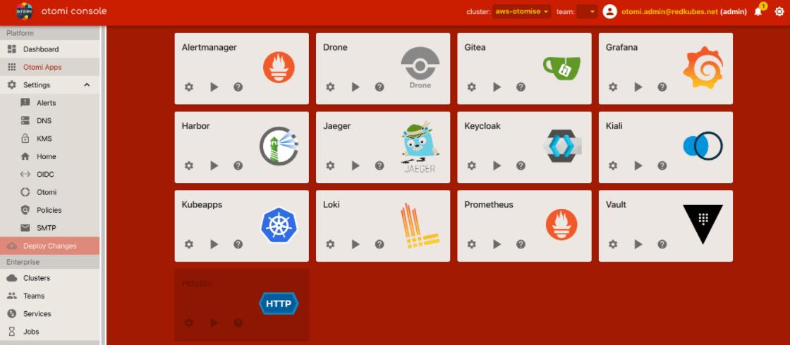 云无关、桌面端、基于Kubernetes的平台Otomi