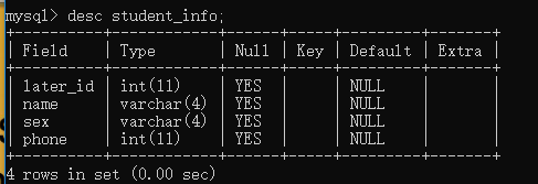 MySQL基本操作