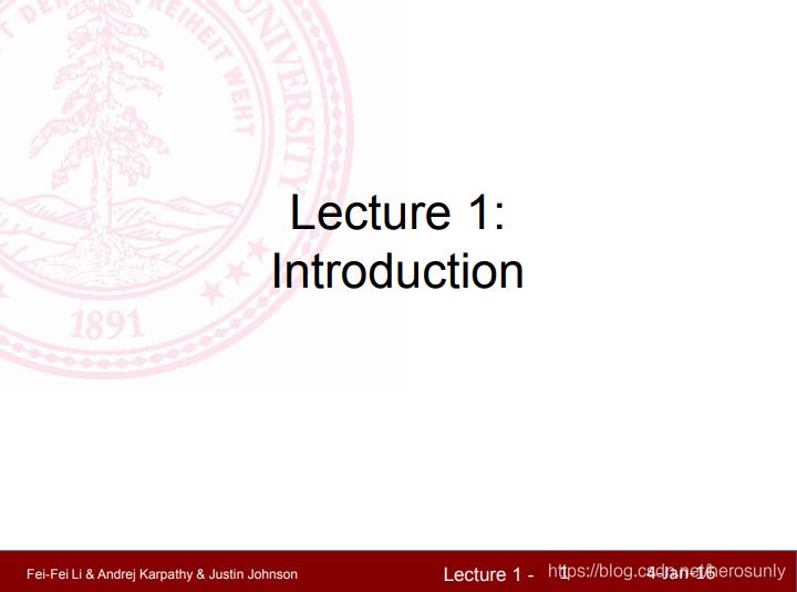 计算机视觉 CS231n Course Introduction
