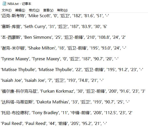 """爬取《NBA30支球队》""""现役球员信息"""",分别存储到3种不同的数据库!"""