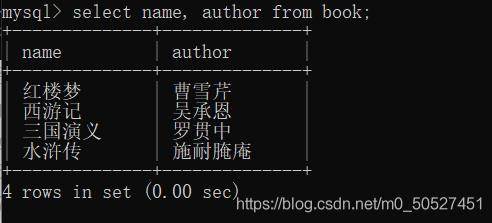 数据库的基本操作(增删改查)