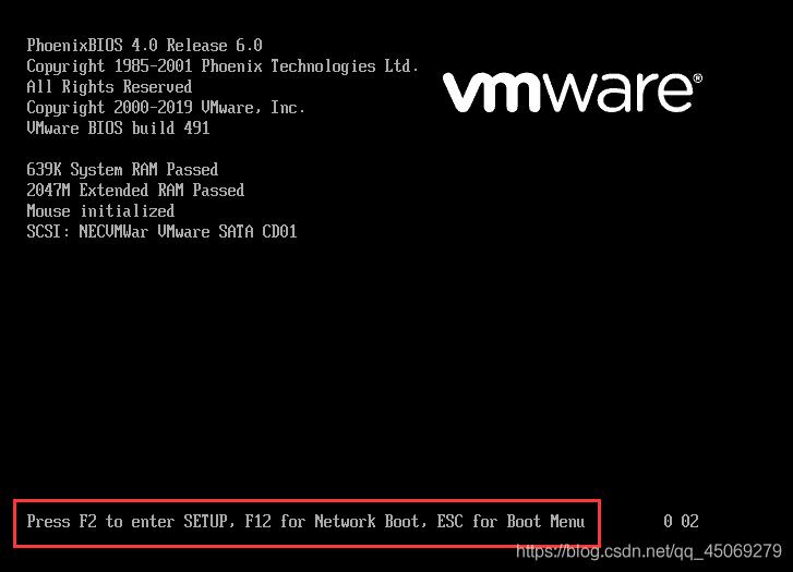 真没想到,vmware进入 bios设置 的方法是这样的