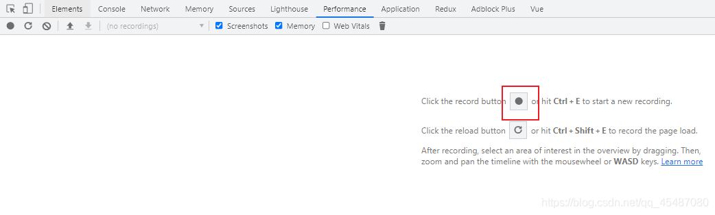 浏览器开发者工具之JavaScript内存监控(Performance)