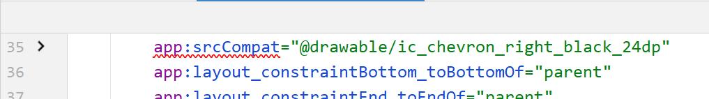 Android的Kotlin的布局文件里面的app:srcCompat提示:红色波浪线