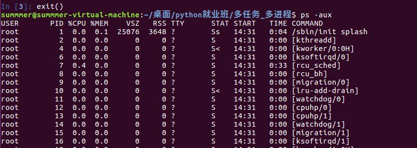 Ubuntu—查看进程并关闭进程