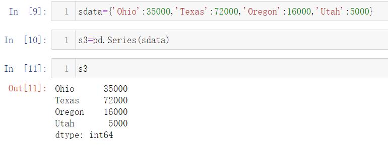 03. Pandas数据结构
