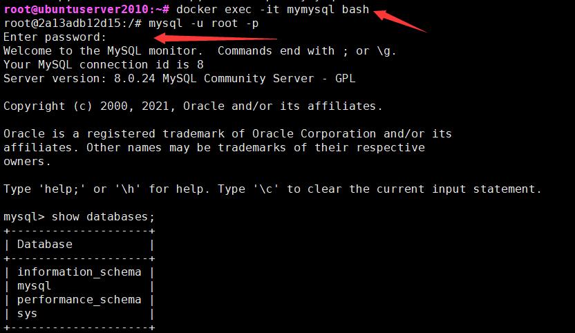 Docker简单部署MySQL