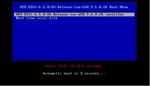 U盘安装VMware ESXi
