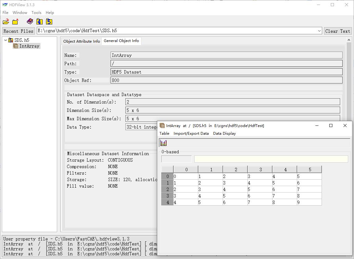HDF5创建基本文件