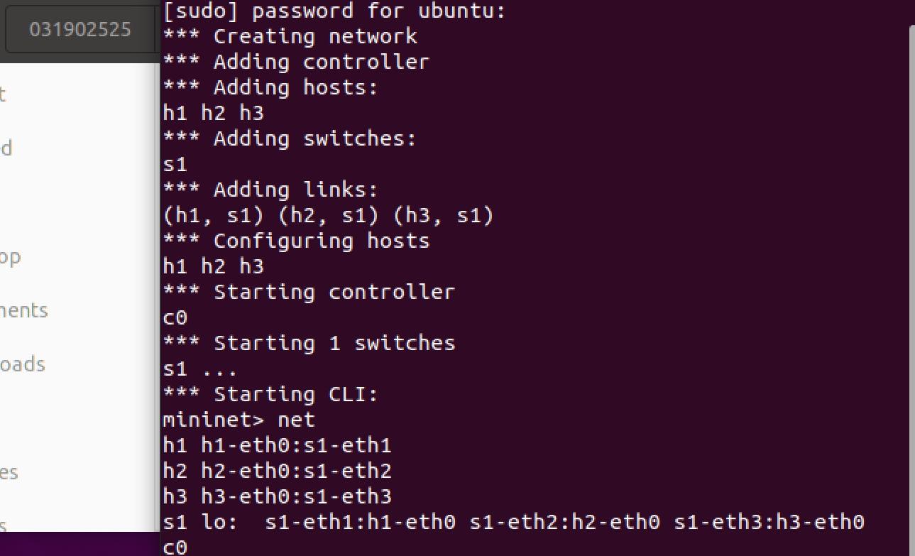 实验1:SDN拓扑实践
