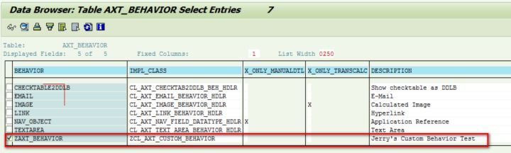 SAP CRM Application Extension Tool的Custom Behavior
