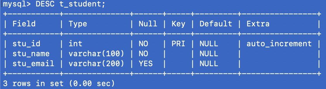 MySQL 常用命令手册 增删改查大法